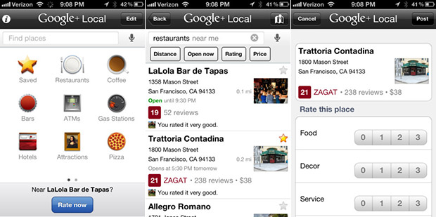 google+ local para ios cierra