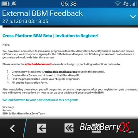 BlackBerry Messenger para iOS y Android asoma ya en modo beta