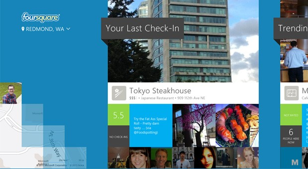 Foursquare hace por fin check-in en los tablets con Windows 8
