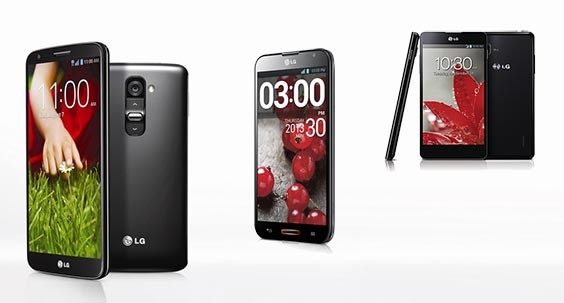 LG G2 frente a sus hermanos Optimus G Pro y Optimus G