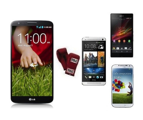 LG G2 frente a la competencia androide: Samsung Galaxy S 4, HTC One y Sony Xperia Z