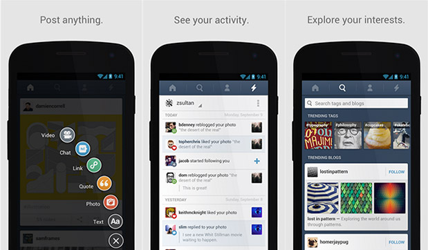 Tumblr añade notificaciones push en su app ara Android