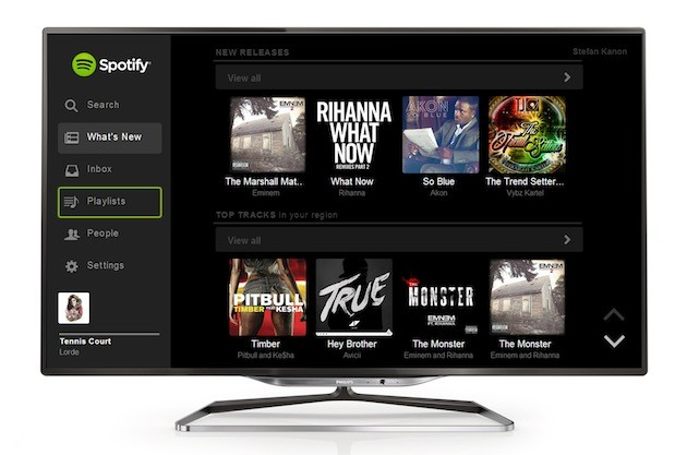 Spotify se cuela en los Smart TV 2013 de Philips