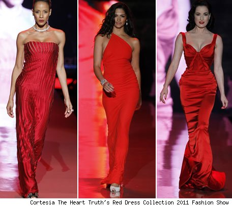 Famosas vestidos rojos Heart Truth Red Dress