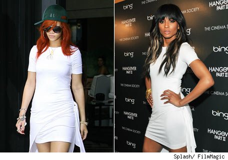 Rihanna vs. Ciara: Famosas con el mismo vestido - A quin le queda mejor?
