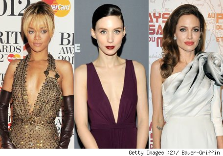 Rihanna, Rooney Mara y Angelina Jolie