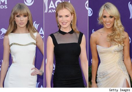 Taylor Swift, Nicole Kidman y Carrie Underwood - Country Music Awards - Detective de la Moda