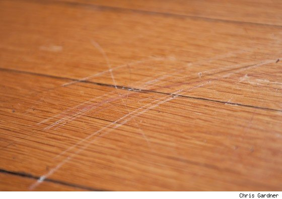 scratched wood floors