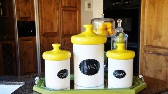 Update Kitchen Canisters With Chalkboard Paint
