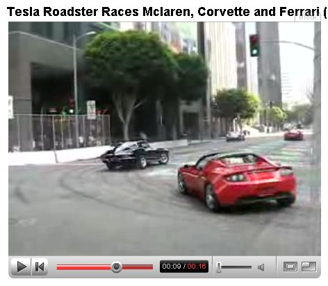Abg Reader Joseph Wrote In The Other Night To Let Us Know About Some Videos Featuring Some Street Racing Between A Tesla Roadster An Unidentified