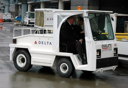 Airport Baggage Tugs http://green.autoblog.com/2008/02/12/delta-unveils-electric-baggage-handling-vehicles-in-albany/