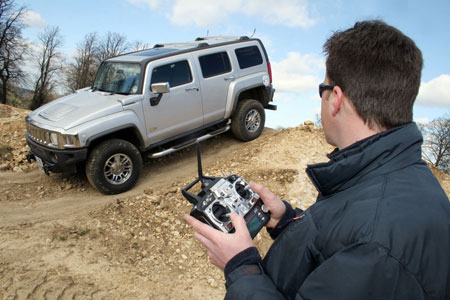 Apparently, someone has turned an actual Hummer H3 into a remote control