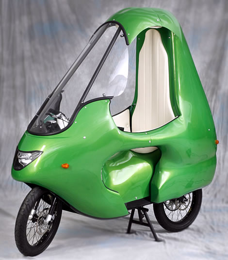 electric motorcycle enclosed - photo #11