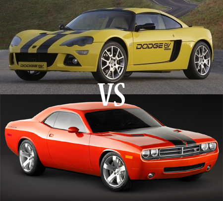 Auto Drag Racing on Video  Drag Race Between Dodge Challenger And Dodge Ev