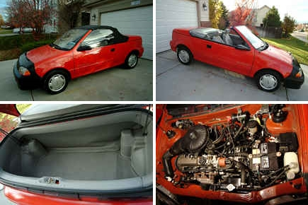 Craigslist Find of the Day: 1992 Geo Metro convertible