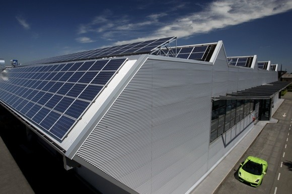 Lamborghini Adds Solar Power To Factory Vows To Cut Range