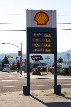 Shell gas price