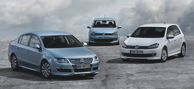 VW Polo, VW Golf, VW Passat