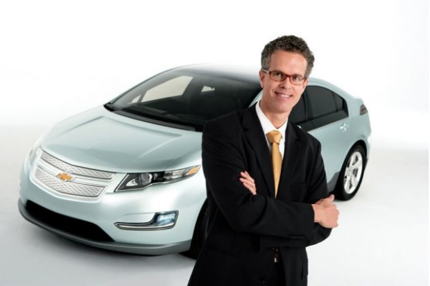 Frank Weber with the Chevrolet Volt