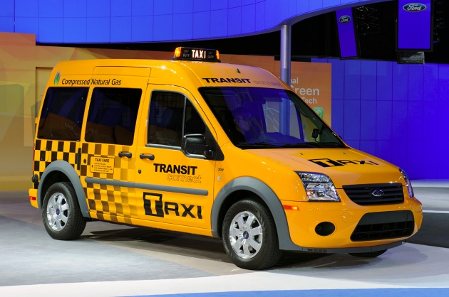 Ford Transit Connect CNG taxi