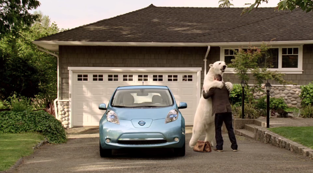 nissan leaf polar bear ad