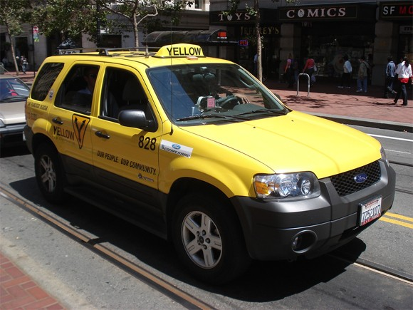 Yellow SUV Taxi