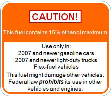 epa e15 warning label