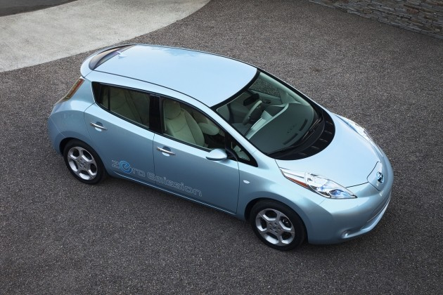 nissan leaf top down