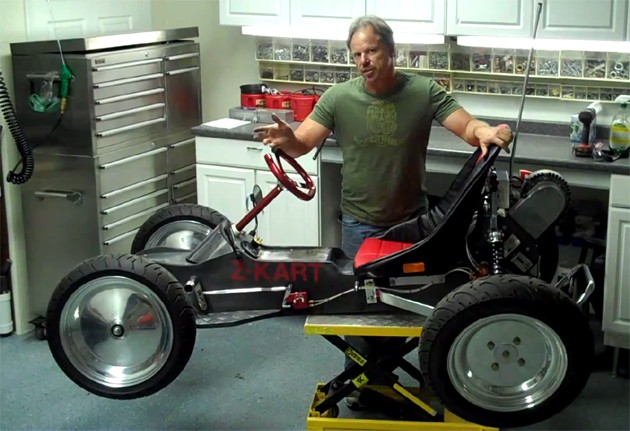 George Fortin with his Z-Kart 