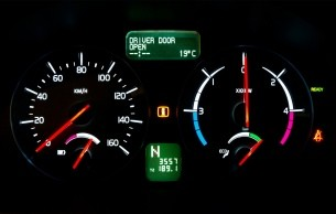 volvo c30 electric car dashboard