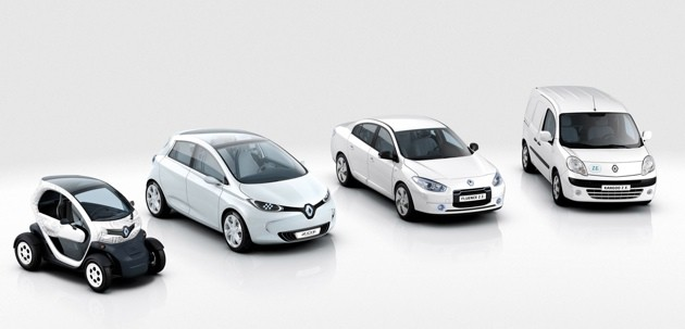 Renault's electric vehicle lineup