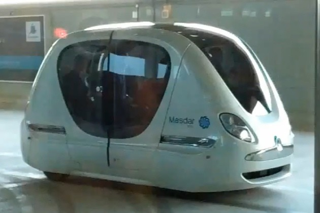 Masdar City trackless Personal Transportation System