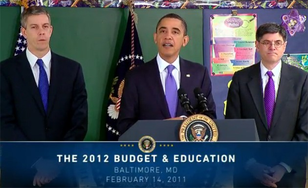 Obama delivers 2012 budget and education speech