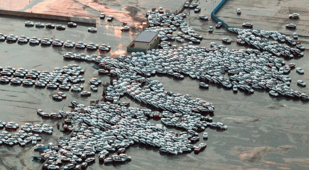 japan earthquake tsunami cars