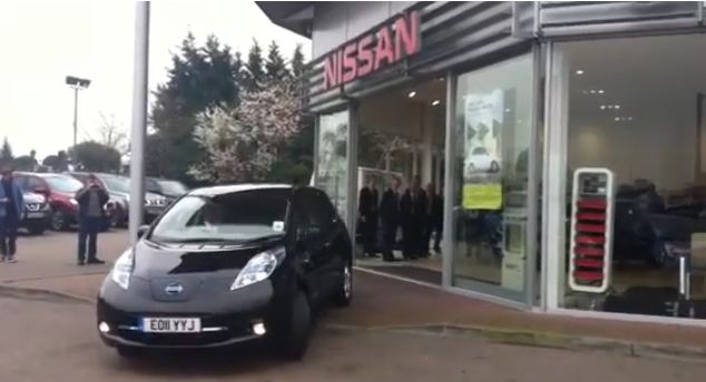 Nissan Leaf delivery in UK