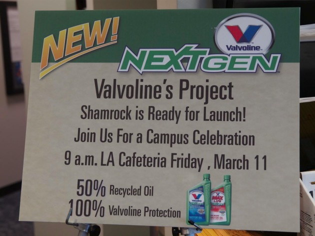 valvoline project shamrock