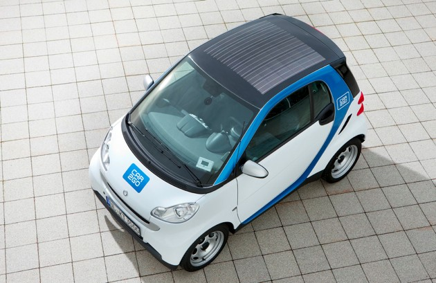 car2go smart fortwo soalr roof