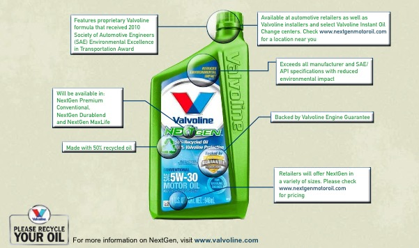 Now offering Valvoline NextGen recycle oil