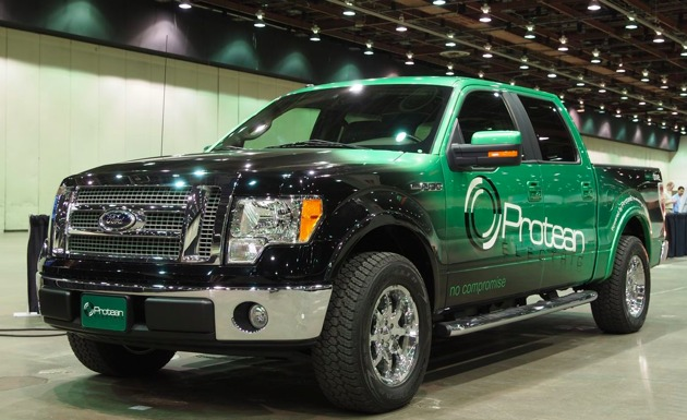Ford F-150 with Protean In-Wheel Motors