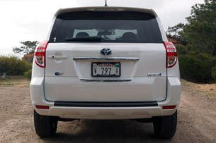 Toyota RAV4 EV rear view