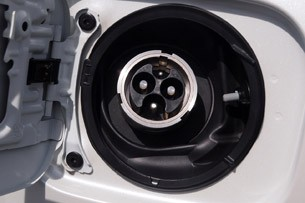 Toyota RAV4 EV charging port