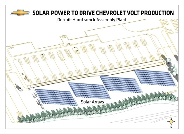 GM solar array diagram