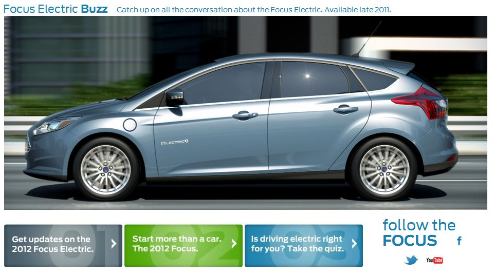 Ford Focus Electric website