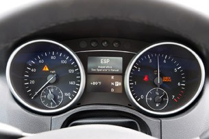 Amp Electric Mercedes-Benz ML EV gauges