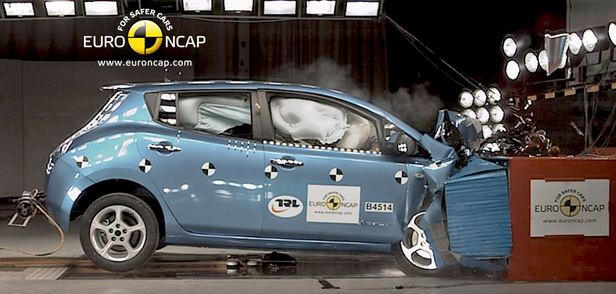 Nissan Leaf Euro NCAP crash test