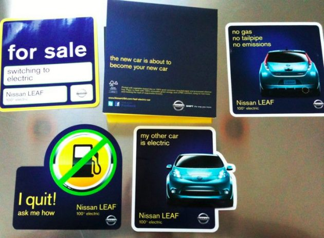 Nissan Leaf stickers