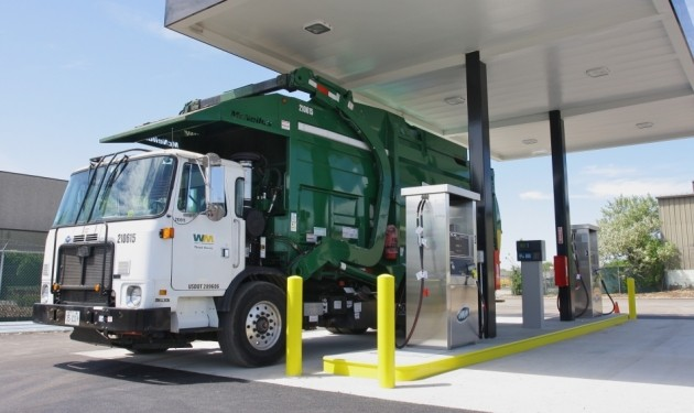 Waste Management cng fueling station near Chicago