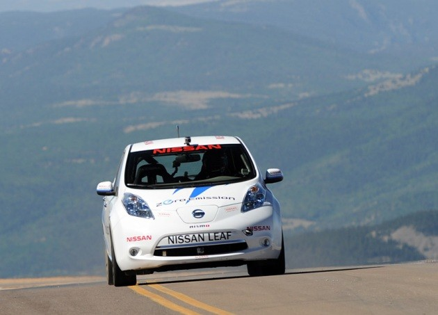 Nissan Leaf at Pikes Peak