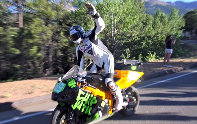 Chip Yates finishes Pikes Peak International Hill Climb on electric motorcycle