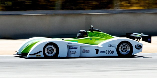 Kleenspeed EV-X11 racer at Lauguna Seca for ReFuel Sport Electric TT